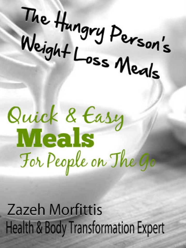 """Cover of iBook """"The Hungry Person's Weight Loss Meals"""""""
